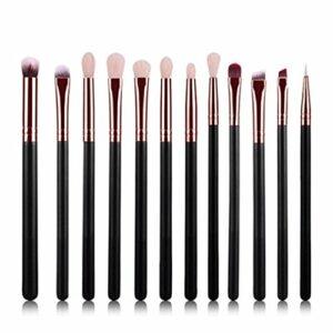 DaoRier Lot de 12 Set Outils Pinceaux Maquillage Pinceaux pour Le Yeux Ombre à Paupières Sourcils Shader Concealer Cosmetics Brush