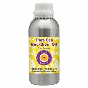 Deve Herbes Huile d'argousier pure (hippophae rhamnoides) 100 % naturelle de qualité thérapeutique pressée à froid pour soins personnels 1250 ml