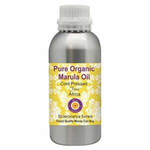 Deve Herbes Huile de marula pure bio (Sclerocarya Birrea) 100 % naturelle de qualité thérapeutique pressée à froid pour soins personnels 1250 ml