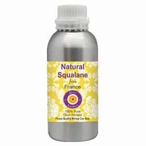 Deve Herbes Huile de squalane naturelle pure (dérivée des olives) 100 % naturelle de qualité thérapeutique pour soins personnels 300 ml