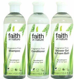 Faith in Nature–Gel Douche et shampoing, Après-shampoing sans parfum