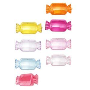 FRCOLOR 8 Pièces Vide Faux Cils Boîte De Sucrerie Forme Cils De Stockage Cas Titulaire D' 3D Vison Cils Box Cosmetic Container pour Femmes Fille