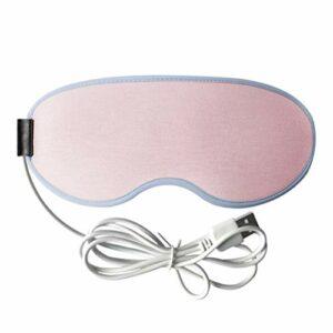 Hbao Chauffage Vapeur Masque pour Les Yeux Anti-cernes Patch Masseur pour Les Yeux soulagement de la Fatigue Sommeil Voyage Masque pour Les Yeux Outil de Soins des Yeux (Color : Pink)