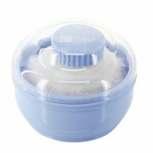 hugestore Baby Houpette Poudre corps Puff éponge éponge avec réservoir Boîte