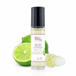 Huile à cuticules professionnelle Roll On 12 ml – Parfum Citron vert – Huile hydratante et régénérante pour cuticules des mains et des pieds, apporte soulagement et fraîcheur aux peaux sèches