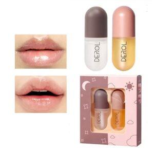 Hydratant de base brillant à lèvres pulpeux, rehausseur de lèvres naturel et sérum de soin des lèvres, soin de jour et de nuit, rehausseur de lèvres pour des lèvres plus lisses, des lèvres sexy