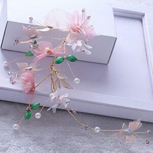 Juan fil fleurs mariée chapellerie Mori fille Super fée coréenne mariage accessoires pour cheveux robe de mariée accessoires de robe mariée bijoux de maquillage