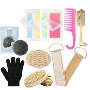 Kit de douche profonde cuticule de nettoyage corps en silicone laveur éponge massage du cuir chevelu baignoire strappop dos, il