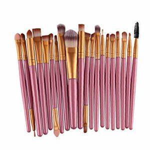 Laine Pro Make Up Brush Set 20 pcs pinceau de maquillage Set outils de maquillage Trousse de toilette (Gold 2)