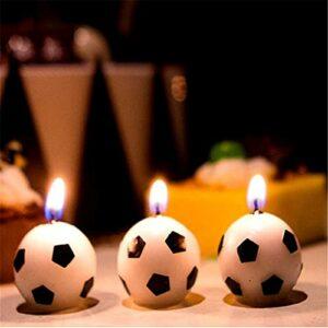 LJGXR Bougie créative Fête de Football Football Football Bougie Anniversaire Fête Fête Fournitures Sports Thèmes Sports Baby Douche Douche Decoration -C Lumière ambiante (Color : 3pcs for Sale)