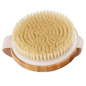 LjzlSxMF Douche Brosse de Massage Brosse à récurer Peau sèche en Bois Spa Brosse pour Exfoliant