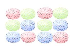 Lot de 12 bonnets de bain pour femme – Imperméable – Réutilisable – Avec bande élastique – En plastique – Cheveux longs – Protection de l'environnement – Pour femme et fille – Spa salon
