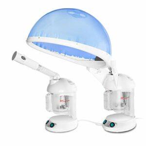 MAIZHAN Hair Steamer 2 in 1 ION Facial Steamer Humidificateur de Cheveux Brume Chaude Hydratation du Visage Atomiseur Système d'hydratation du Visage Spray Utilisation à la Maison ou au Salon