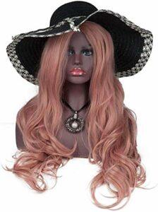 Mannequins de couture reglable Femme Mannequin/Mannequin Tête avec épaules et Buste Maquillage réaliste for Les Chapeaux, Perruques, Scarfs Display Stand Porte vêtement Mannequin