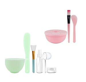 MIAOMIAO Masque Facial mixage Bol kit bâton de bâton Convient à la Maison beauté Salon féminin Femme Bricolage Visage Masque cosmétique Soin de la Peau Outil de Maquillage Service