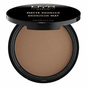 NYX Professional Makeup Poudre Bronzante Corps et Visage Matte Bronzer, Sans Reflets, Deep