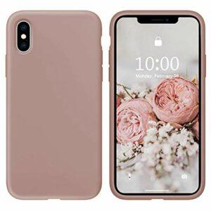 Oihxse Silicone TPU Gommage Case Compatible pour Huawei P10 Coque Ultra Fine Souple Protection Housse Mignon Couleurs Bumper Étui Anti-Rayures Cover(Rose foncé)