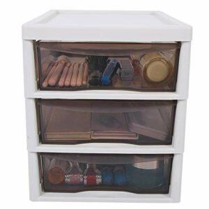 Organisateur de tiroir de maquillage, organisateur cosmétique de bureau imperméable en plastique de grande capacité, salon pour le ménage