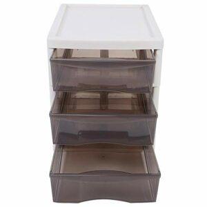 Organisateur, organisateur de maquillage multicouche de bureau étanche, salon en plastique transparent de grande capacité pour le ménage