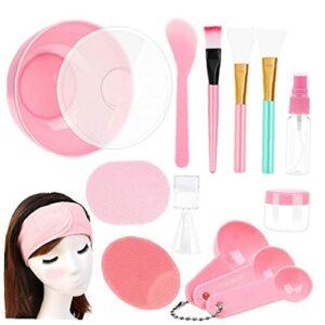 Outil de couverture face avec un bâton de bol à couvercle de visage, crème beauté Spatule Stick brosse Beauty Tool de bricolage 15pcs