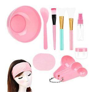 Outil de couverture face avec un bâton de bol à couverture faciale, crème beauté Spatule Stick brosse Beauty Tool DIY 12 pcs
