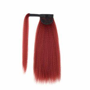 Perruques Perruques à fibres Coiffures longues Courry Clip dans la queue de cheveux Kinky Placelet de queue de queue droite pour femmes Synthetic Cheveux Pony Tail Extension des cheveux Extensions che