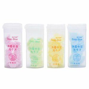 Qingsi Lot de 200 mini feuilles de savon jetables pour voyage, randonnée, lavage des mains, papier de toilette, papier de toilette