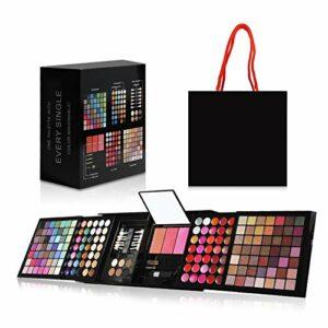 Ruwhere 177 Couleurs Cosmétiques Fard à Paupières Maquillage Palette Kit avec Correcteur, Fards à Joues, Poudres pour le Visage, Brillant à lèvres et Poudres de Sourcils