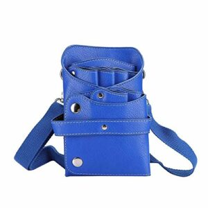 Sac de rangement, sac de taille, sac de taille de ciseaux de coiffeur portable, outil de coiffure de peigne de tondeuse à cheveux(Bleu)