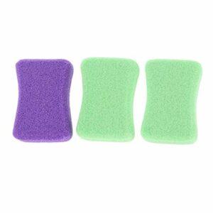 SUPVOX 3pcs pierre ponce lave outils de pédicure double face sucette forme remover peau dure pour les mains pied fichier fichier exfoliation couleur aléatoire