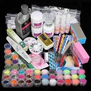 Suszian Kit Nail Art, Kit Nail Art Manucure, Boutique de beauté Gel Acrylique Gel UV Set Nail Polish Set de manucure Bricolage pour Femmes Filles (Art Tool Decoration Starter Set)