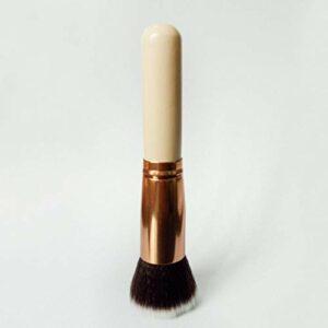 SXPSYWY Single BB Crème Maquillage Brosse Fondation Brosse Toilettes à cheveux Appartement Poudre de pinceau-Or rose