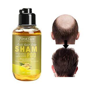 Symeas Shampooing à l'extrait de racine de gingembre Shampooing sec Améliorer le cuir chevelu gras, Shampooing pour la croissance des cheveux