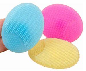 Tampon de brosse de nettoyage en silicone,3 brosses de nettoyage pour le visage en silicone souple, brosse de nettoyage de maquillage pour les points noirs pour les femmes
