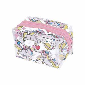 TENDYCOCO Sac cosmétique de Filles Licorne Transparent gelée de Maquillage Trousse de Toilette Organisateur