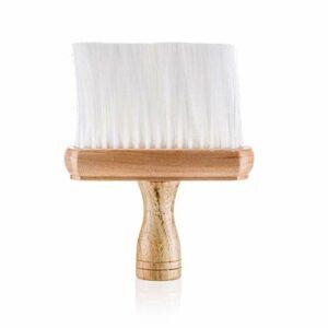 Vivezen ® Balai à cou 16 cm pour poils, barbes, cheveux, avec manche en bois – Norme CE