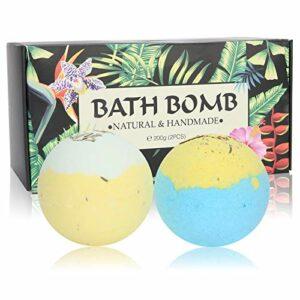 2 pièces bombes de sel de bain à la main parfum exfoliant corps douche sel hydrater apaiser la peau huile essentielle sel nettoyant cadeau pour les femmes fille
