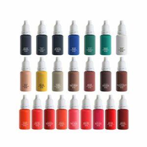 23 Pcs Encre De Tatouage Permanente 23 Couleurs De Base Encre De Tatouage, 1 Oz 15 ML/kit De Pigments D'encres pour Tatouage Et Peinture Corporelle, d'art De Corps De Beauté
