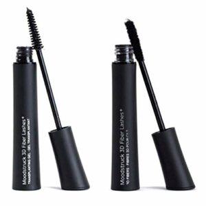 2pcs 3D Natural Mascara Waterproof avec Fibre Brush Construits Outils de Maquillage épais et Riche Cils (Couleur : Noir)