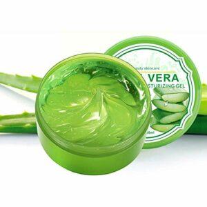 300 g de gel d'aloe vera, gel hydratant apaisant pour la peau masque de sommeil à l'aloès gel d'aloe vera sans crème de soin pour la peau idéal pour le visage, les cheveux