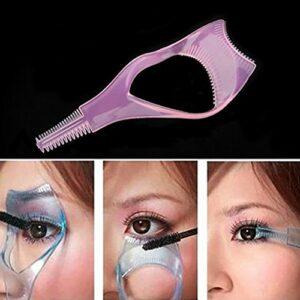 3en 1mascara Shield Guard pour cils Brosse bigoudi Guide Eye Lash Mascara Applicateur Garde avec peigne