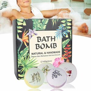 4 pièces bombes de bain coffret cadeau exfoliant hydratant aromathérapie exfoliant corps douche bulle de sel aromathérapie bain boule de sel pour les femmes fille famille