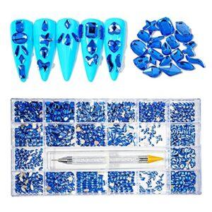 6Wcveuebuc Lot de 21 grilles de strass pour ongles – Plusieurs formes – Avec crayon de cire – Pour décoration de maquillage – Pour salon ou maison