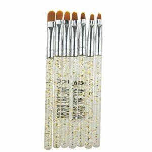 7pcs Brosse À Ongles En Acrylique Gel Uv Nail Art Builder Conseils Brosse À Ongles Peinture Outils Pinceau Beauté