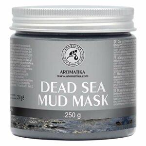 Boue Mer Morte pour Visage et Corps – Riche en Minéraux – Réduit les Rides – Masque de Boue de Mer Morte Nettoie en Profondeur et Hydrate 250 g