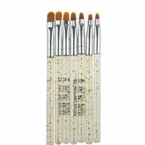 Brosse à ongles Gel UV 7PCS acrylique Nail Art Pinceau à ongles Conseils Builder peinture Outils Pinceau beauté Set
