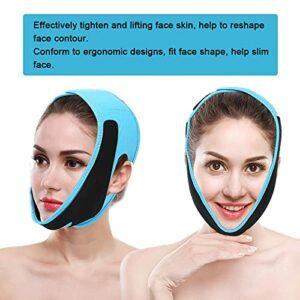 Ceinture amincissante réglable et confortable pour le visage (bleu, taille unique)