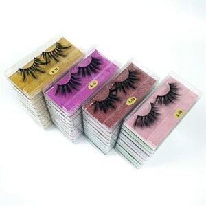 Cils Faux, Eyelash 25 mm de Cils 50/100/200 Paires de 25mm Cils Pack Maquillage de Maquillage □ Long Faux Cils (Color : 200pairs Mixed Style, Length : 25mm Lashes)