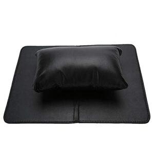 Coussin de repose-bras de Table à ongles Tapis de table de manucure détachable Coussin de main d'art d'ongle pour l'art d'ongle pour l'utilisation de salon de beauté pour l'artiste d'art(black)