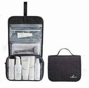 Crochet de voyage sac de rangement pliable pour sac cosmétique, sac cosmétique étanche transparent de grande capacité portable, outil de beauté et de soins personnels et sac d'accessoires, pinceau de